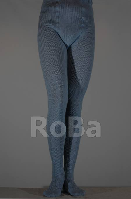 Mens Knit Tights With Double Gusset And Cable Pattern Up To The