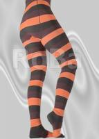 Hooped tights with block hoops t...